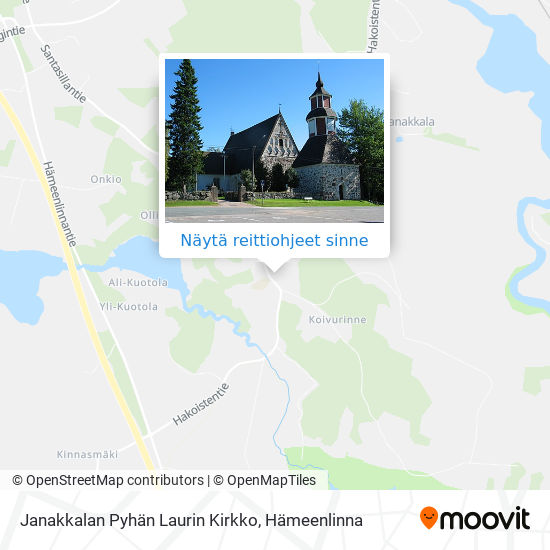 Janakkalan Pyhän Laurin Kirkko kartta