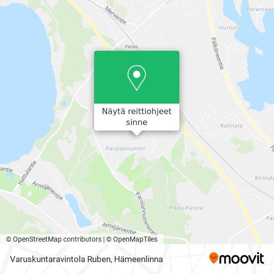 Varuskuntaravintola Ruben kartta