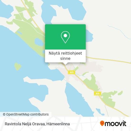Ravintola Neljä Oravaa kartta