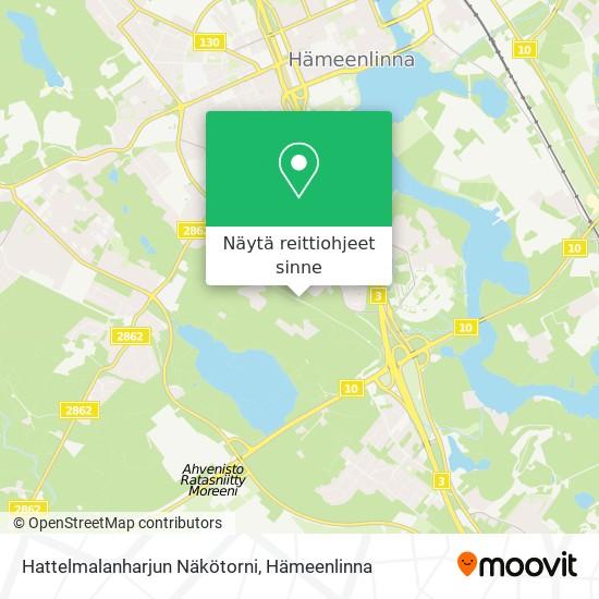 Hattelmalanharjun Näkötorni kartta