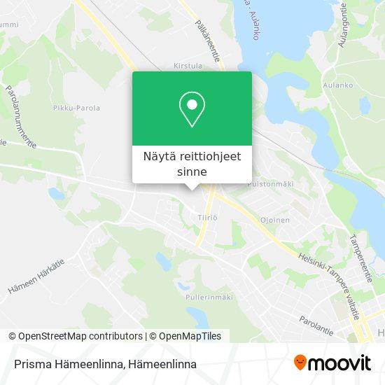 Prisma Hämeenlinna kartta