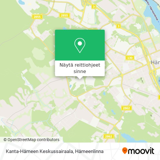 Kanta-Hämeen Keskussairaala kartta