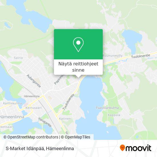 S-Market Idänpää kartta