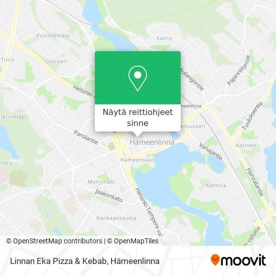 Linnan Eka Pizza & Kebab kartta