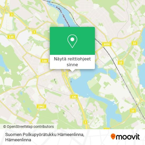 Suomen Polkupyörätukku Hämeenlinna kartta