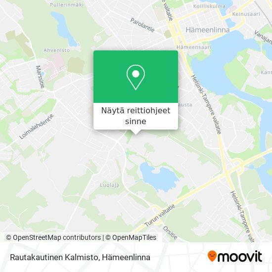 Rautakautinen Kalmisto kartta