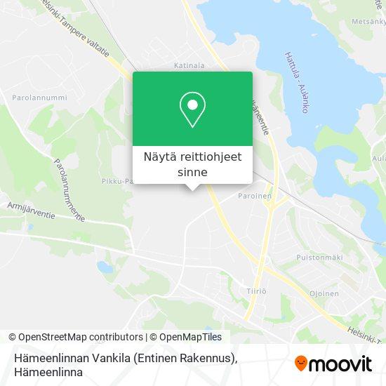 Hämeenlinnan Vankila kartta