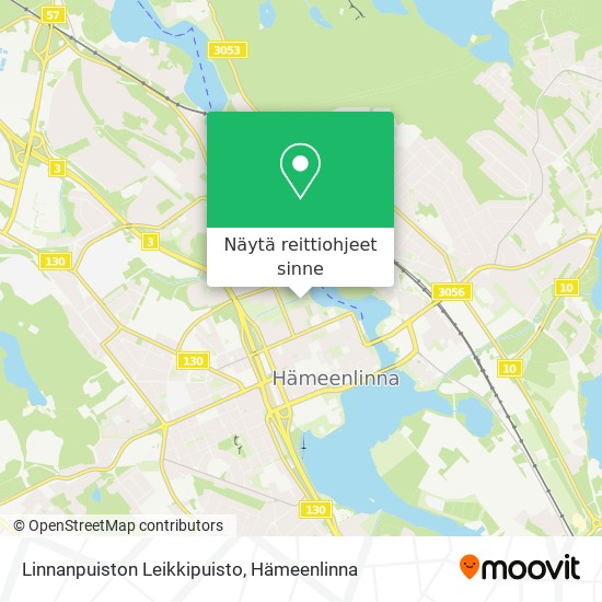 Linnanpuiston Leikkipuisto kartta