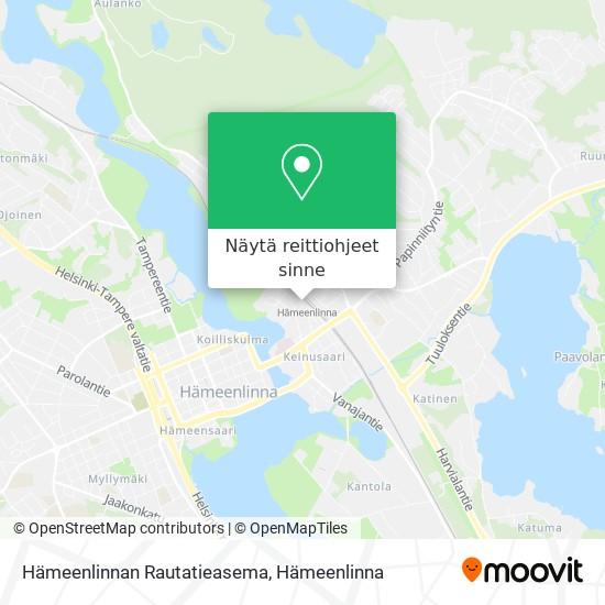 Hämeenlinnan Rautatieasema kartta