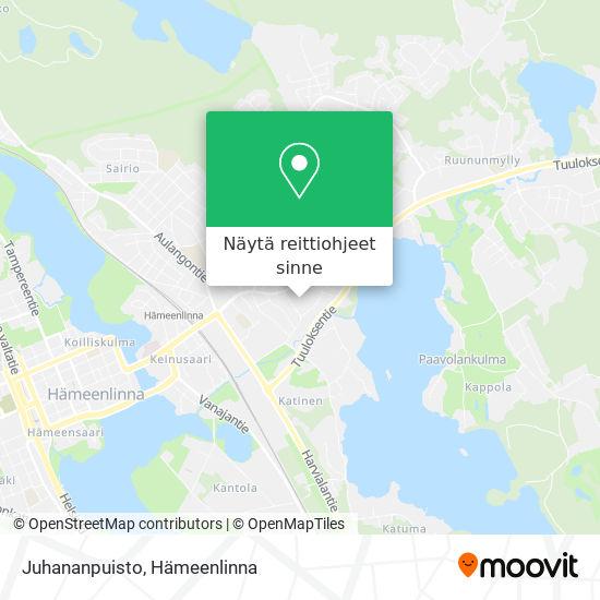 Juhananpuisto kartta