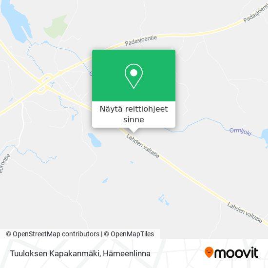 Tuuloksen Kapakanmäki kartta