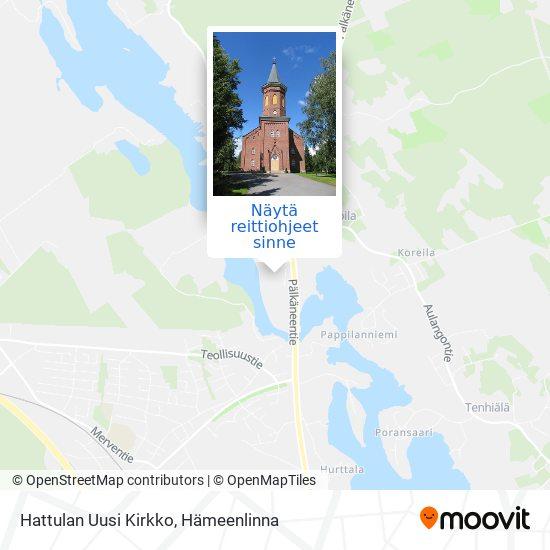 Hattulan Uusi Kirkko kartta
