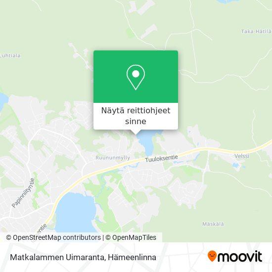 Matkalammen Uimaranta kartta