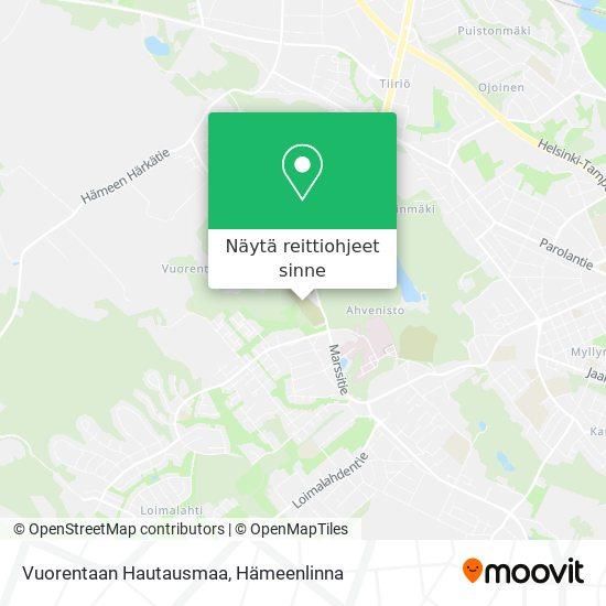Vuorentaan Hautausmaa kartta