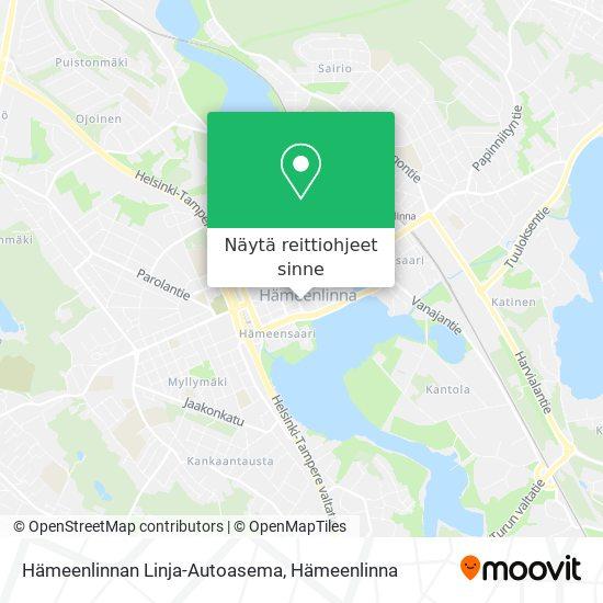 Hämeenlinnan Linja-Autoasema kartta