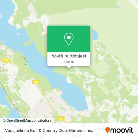 Vanajanlinna Golf & Country Club kartta