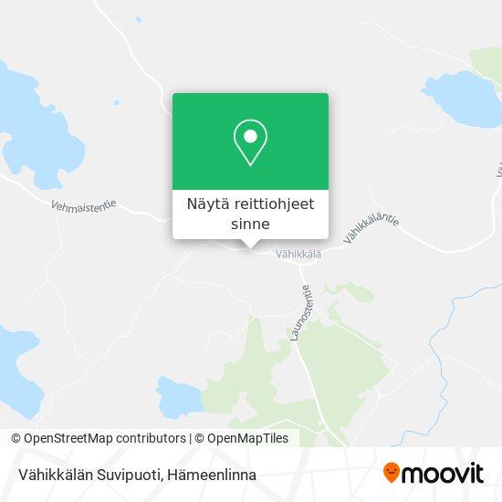 Vähikkälän Suvipuoti kartta