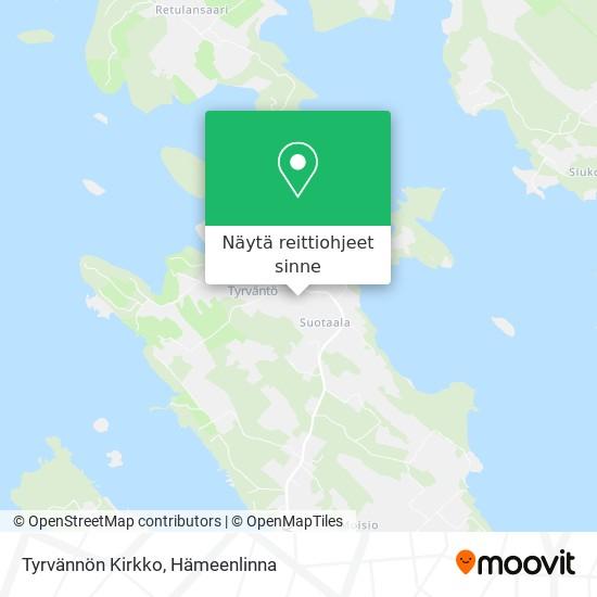 Tyrvännön Kirkko kartta