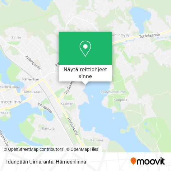 Idänpään Uimaranta kartta