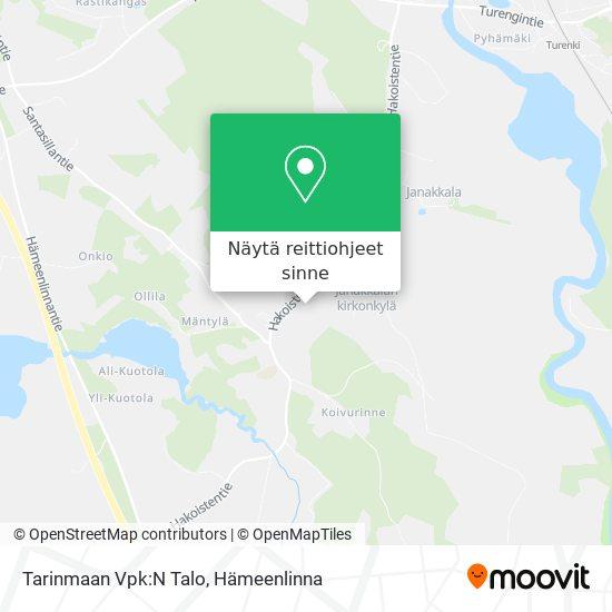 Tarinmaan Vpk:N Talo kartta