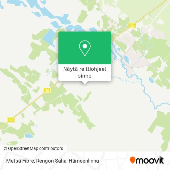 Metsä Wood, Rengon Saha kartta
