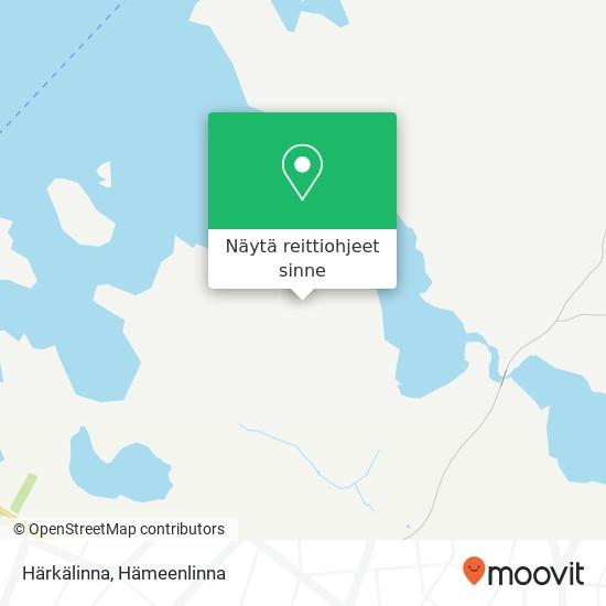 Härkälinna kartta