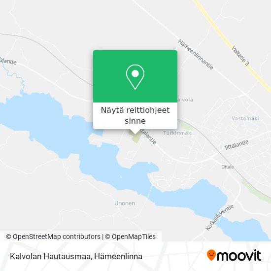 Kalvolan Hautausmaa kartta