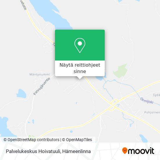 Palvelukeskus Hoivatuuli kartta