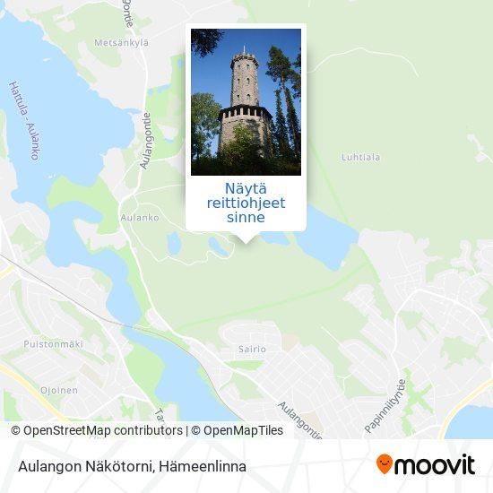 Aulangon Näkötorni kartta