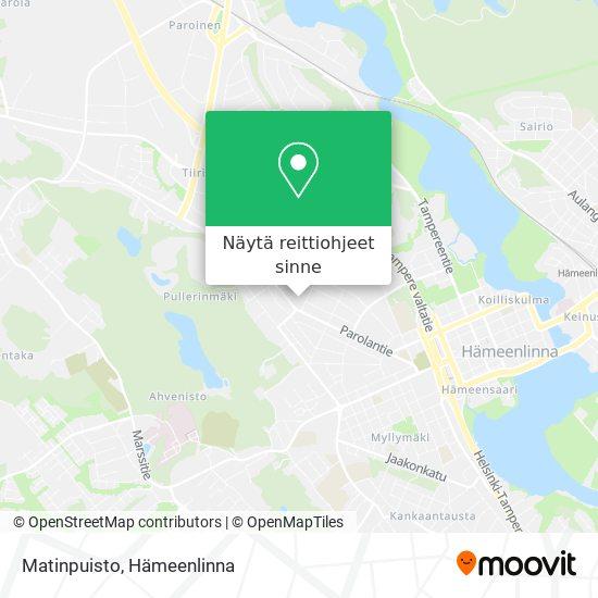 Matinpuisto kartta