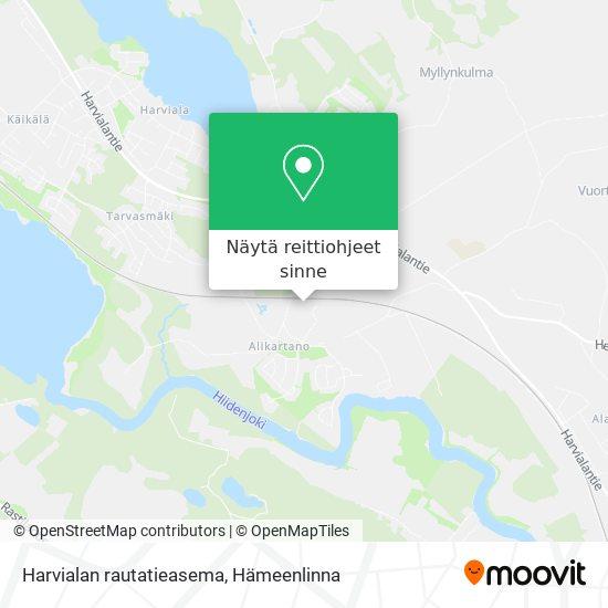 Harvialan rautatieasema kartta