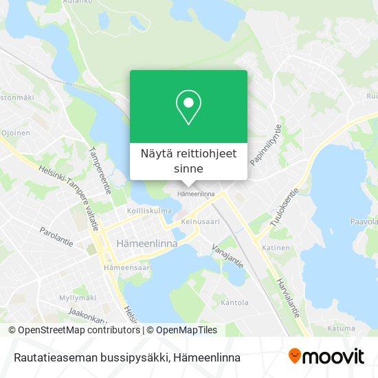 Rautatieaseman bussipysäkki kartta
