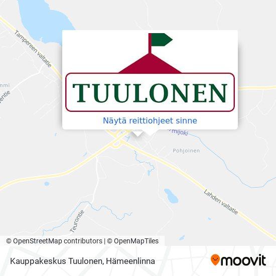 Kauppakeskus Tuulonen kartta