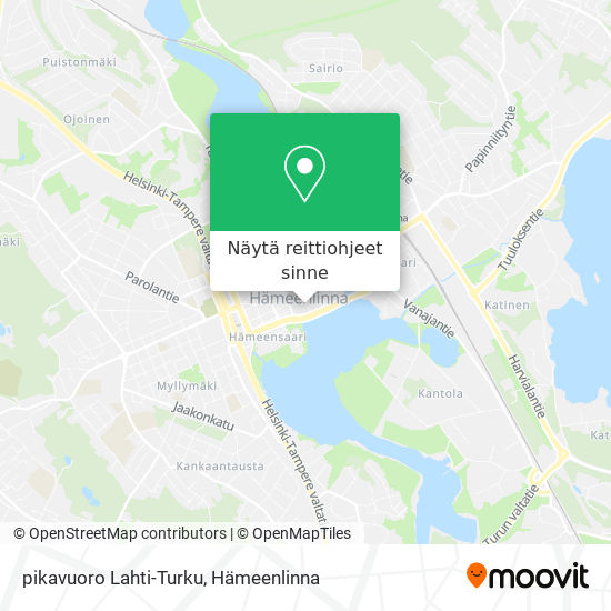 pikavuoro Lahti-Turku kartta