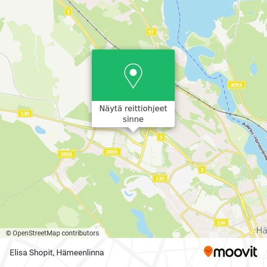 Elisa Shopit kartta