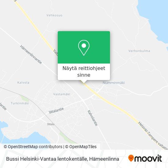 Bussi Helsinki-Vantaa lentokentälle kartta