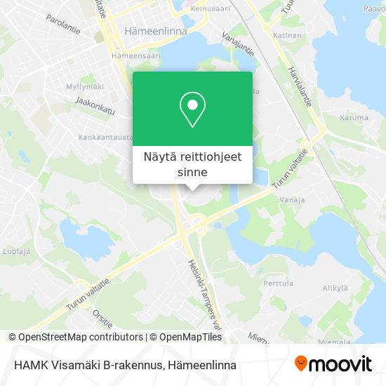 HAMK Visamäki B-rakennus kartta