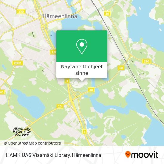 HAMK UAS Visamäki Library kartta