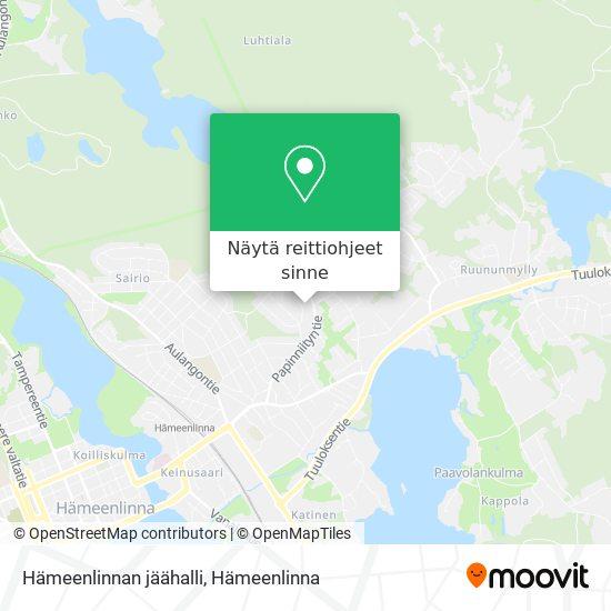 Hämeenlinnan jäähalli kartta