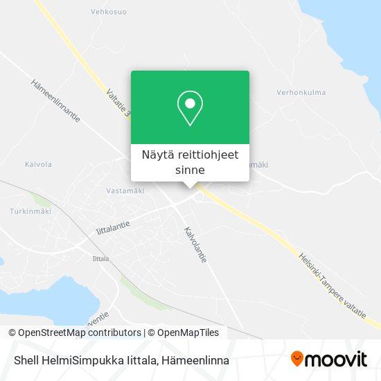 Shell HelmiSimpukka Iittala kartta