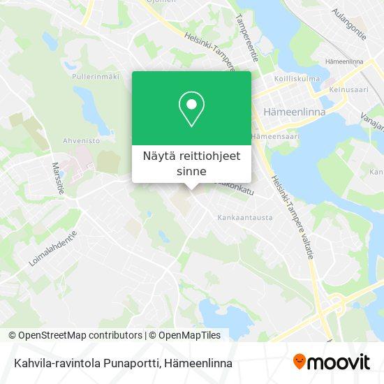 Kahvila-ravintola Punaportti kartta