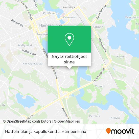 Hattelmalan jalkapallokenttä kartta