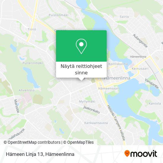 Hämeen Linja 13 kartta