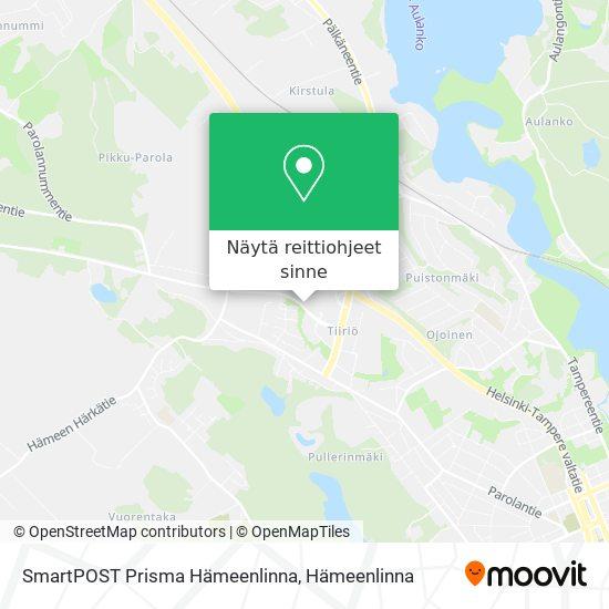 SmartPOST Prisma Hämeenlinna kartta
