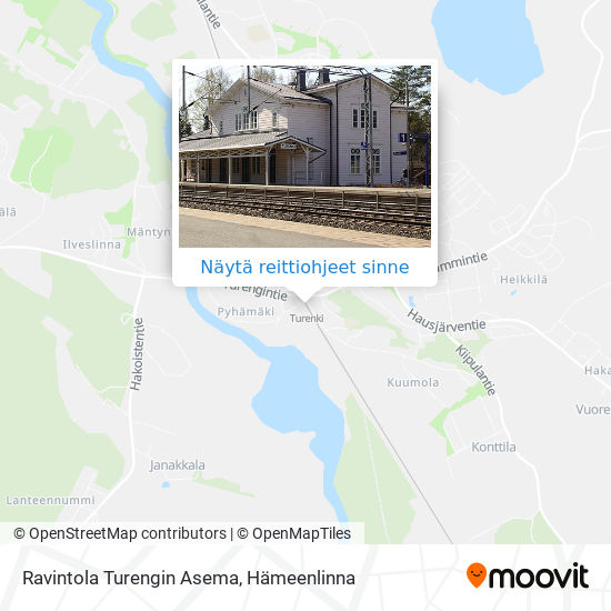 Ravintola Turengin Asema kartta