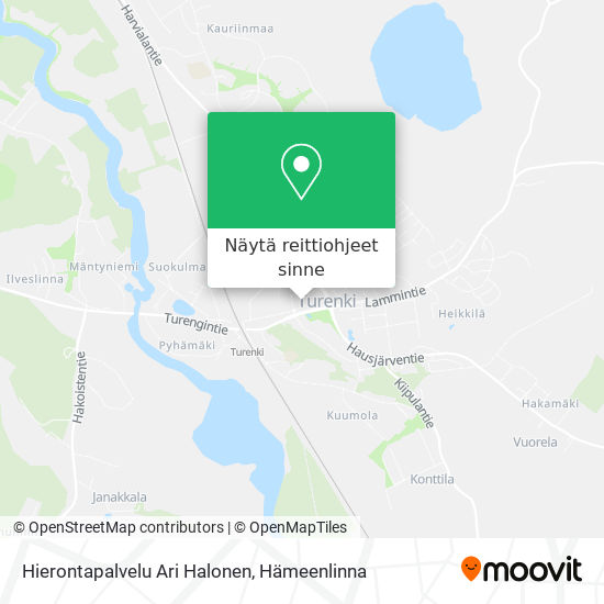 Hierontapalvelu Ari Halonen kartta
