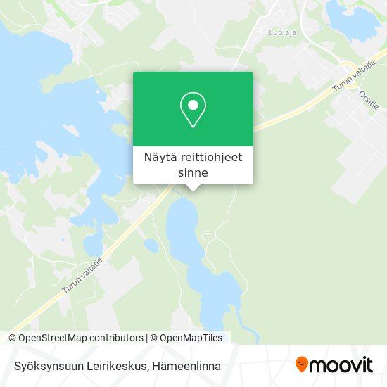 Syöksynsuun Leirikeskus kartta