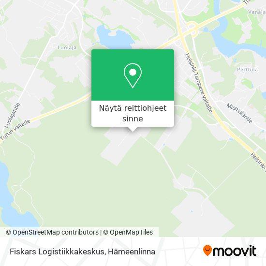 Fiskars Logistiikkakeskus kartta