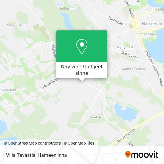 Villa Tavastia kartta