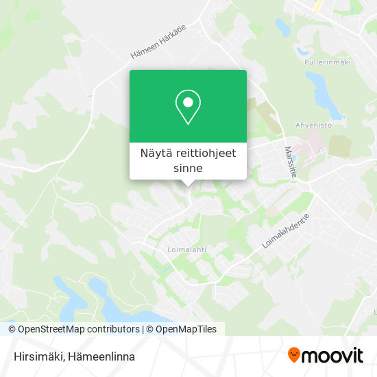Hirsimäki kartta